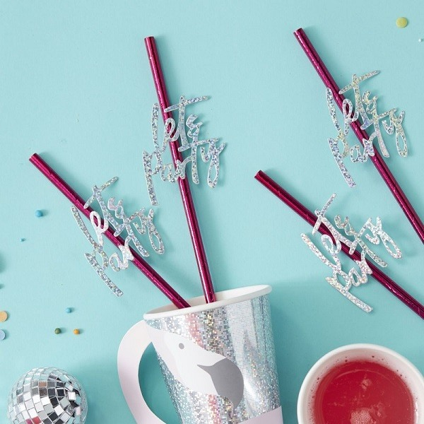 Lets Party Paper Straws Set