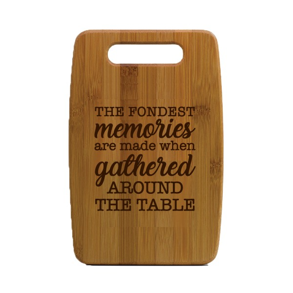 Fondest Memories Small Bamboo Cutting Board