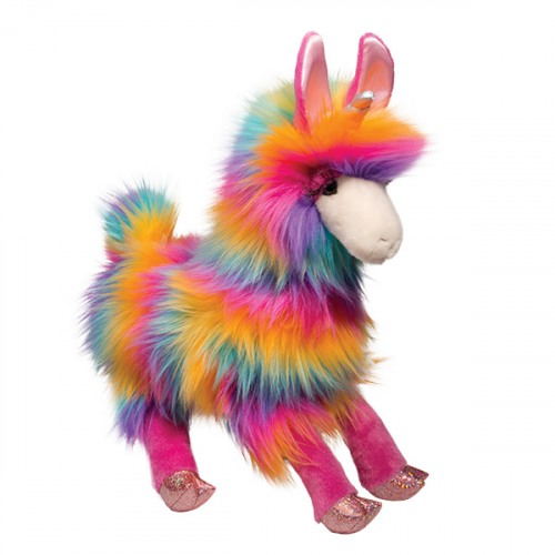 Lollipop Llamacorn Rainbow Fuzzle Plush