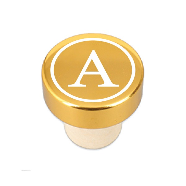 Gold Initial Bottle Stopper