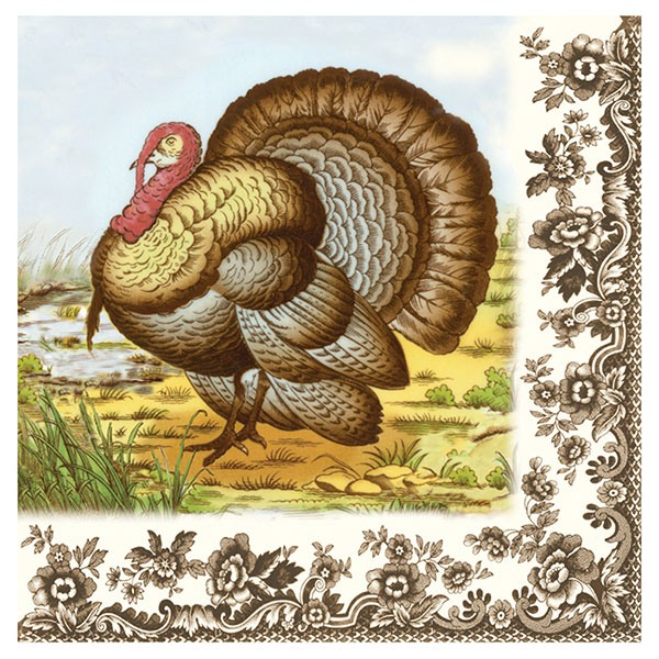 Woodland Turkey Dinner Napkins