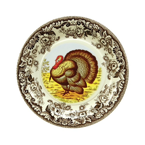 Woodland Turkey Luncheon Plates