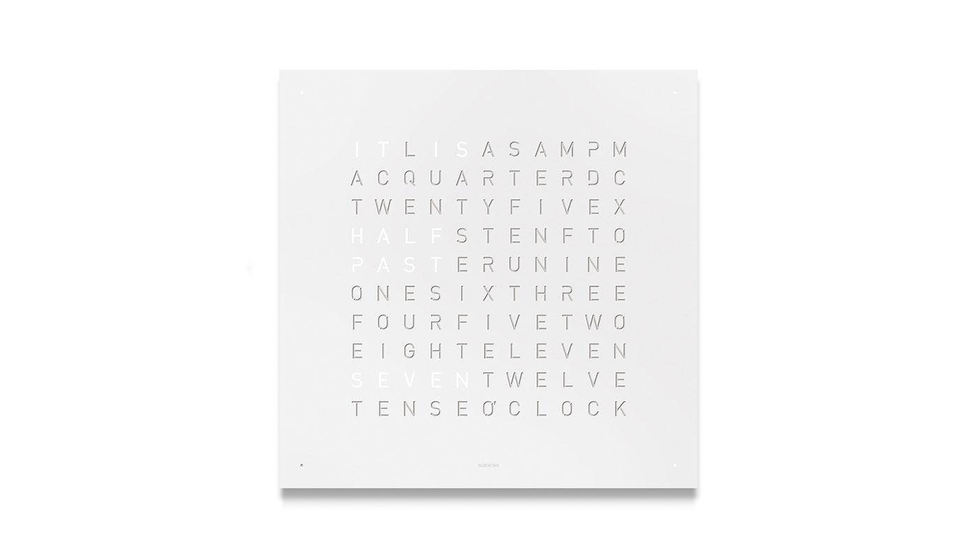 Classic Wall Clock - White Powder Coated