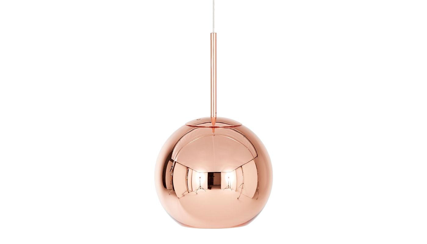 Copper Round Suspension Light
