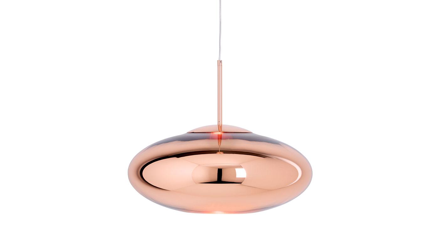 Copper Wide Suspension Light