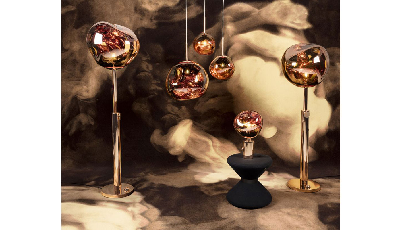 Melt Light Floor Light - Copper by Tom Dixon - Switch Modern