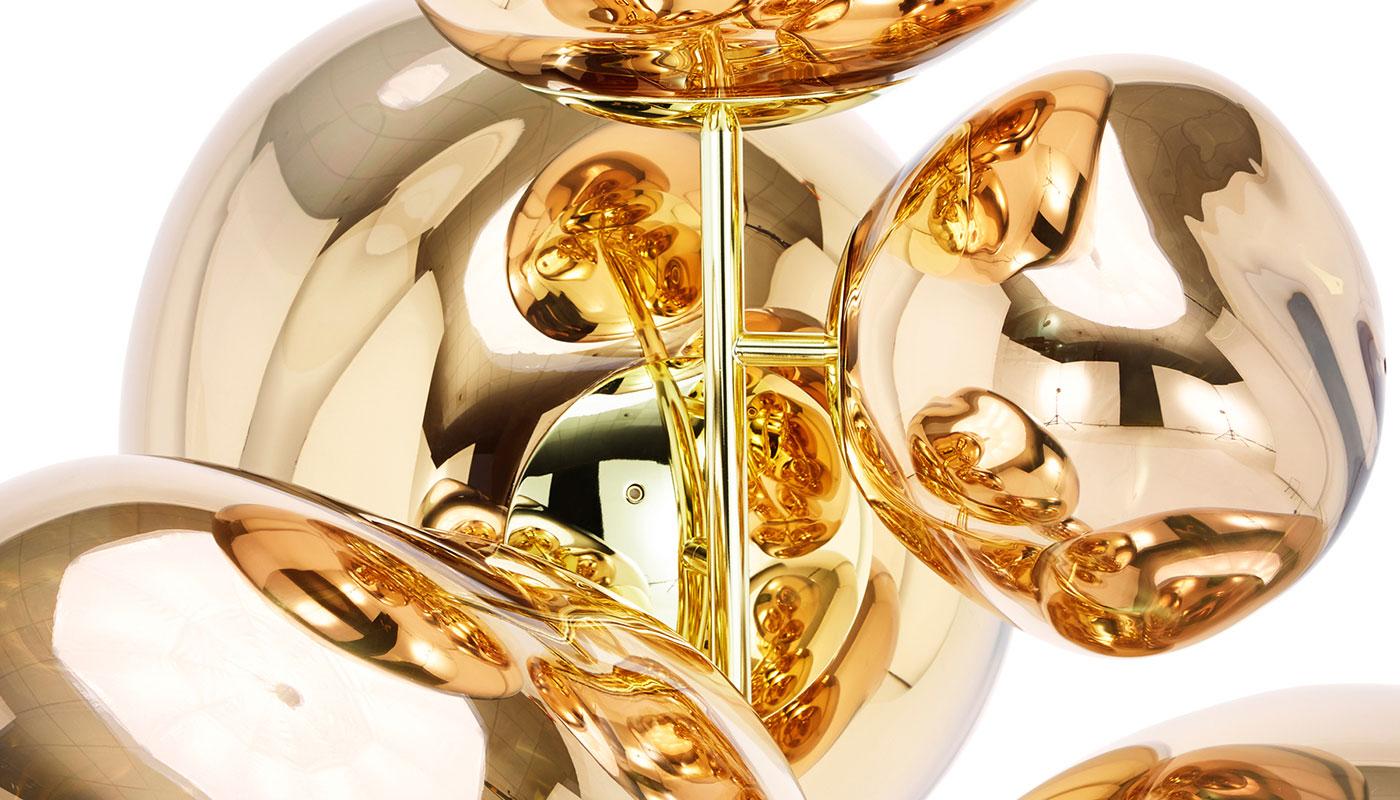 Melt Stand Chandelier Floor Lamp - Gold by Tom Dixon ...