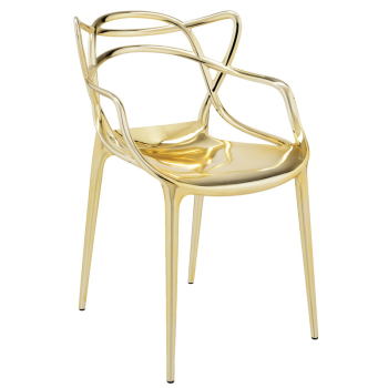 Masters Dining Chair - Gold - Quick Ship