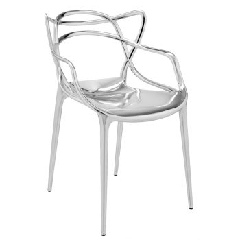 Masters Dining Chair - Chrome - Quick Ship