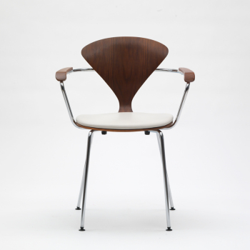 Metal Base Armchair - Uphol. Seat