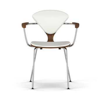 Metal Base Armchair - Uphol. Seat & Back