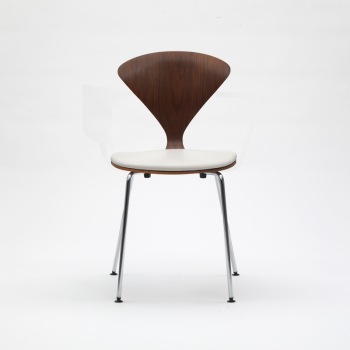 Metal Base Side Chair - Uphol. Seat
