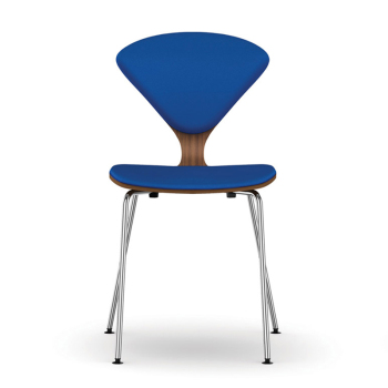 Metal Base Side Chair - Uphol. Seat & Back