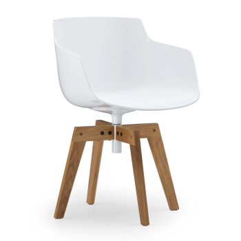 Flow Slim Chair - 4-Legged Oak