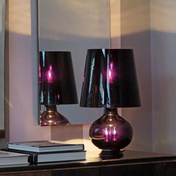 Fontana Total Black Table Lamp