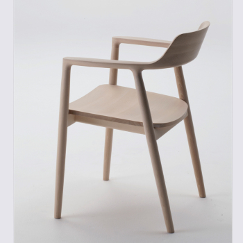 Hiroshima Dining Chair - Wood Seat or Upholstered Seat