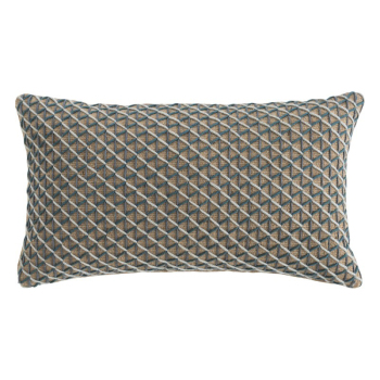 Raw Rectangle Pillow - Blue