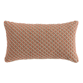 Raw Rectangle Pillow - Pink