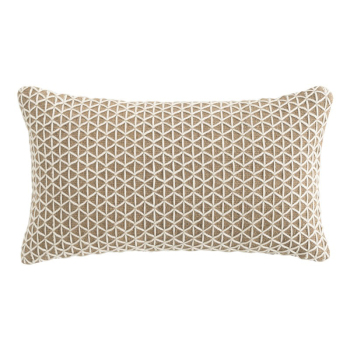 Raw Rectangle Pillow - White