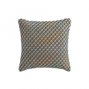 Raw Square Pillow - Blue