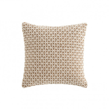 Raw Square Pillow - White