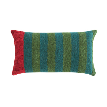 Rustic Chic Flower Rectangle Pillow - Green