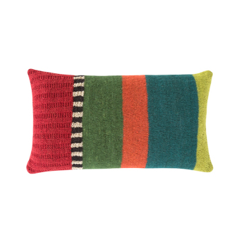Rustic Chic Flower Rectangle Pillow - Multi