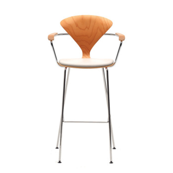 Metal Base Stool with Arms - Uphol. Seat