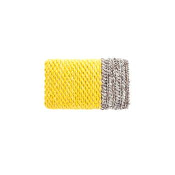 Mangas Plait Yellow Cushion