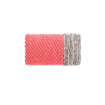 Mangas Plait Coral Cushion