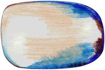 Scribble Blue-Gray-Beige Rug