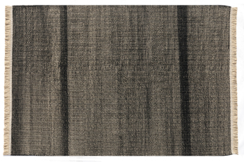 Tres Texture Black Rug - Outdoor