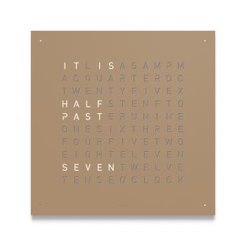 Classic Wall Clock - Hazelnut Powder Coated