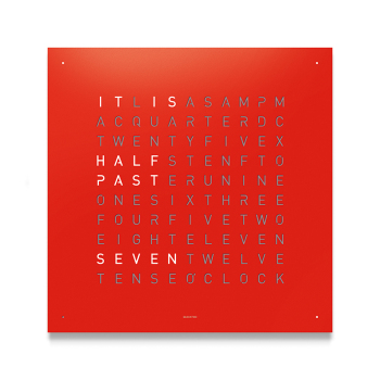 Classic Wall Clock - Red Powder Coated