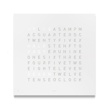 Classic Wall Clock - White Powder Coated