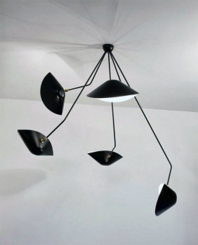 5 Arm Spider Ceiling Light - Angled