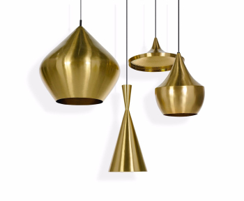 Beat Fat Suspension Light - Brushed Brass