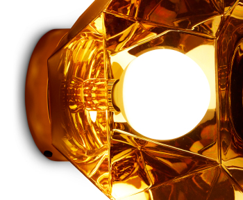 Cut Wall Light - Gold