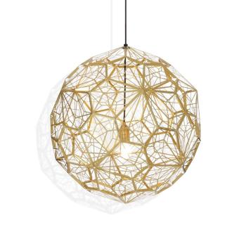 Etch Web Suspension Light - Brass