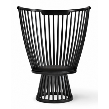 Fan Lounge Chair - Black