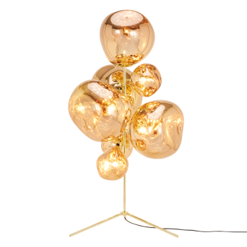 Melt Stand Chandelier Floor Lamp - Gold