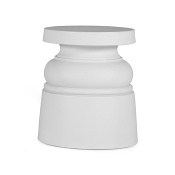 New Antiques Container Stool - White - Quick Ship
