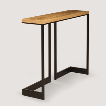Wishbone Slab Top Console Table