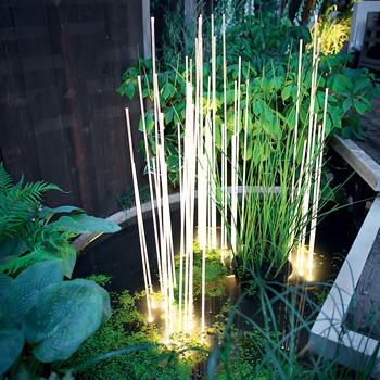 Reeds Single Floor Lamp - Outdoor