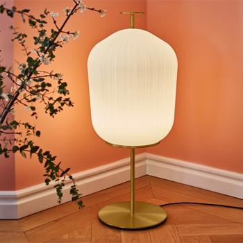 Plissee Floor Lamp