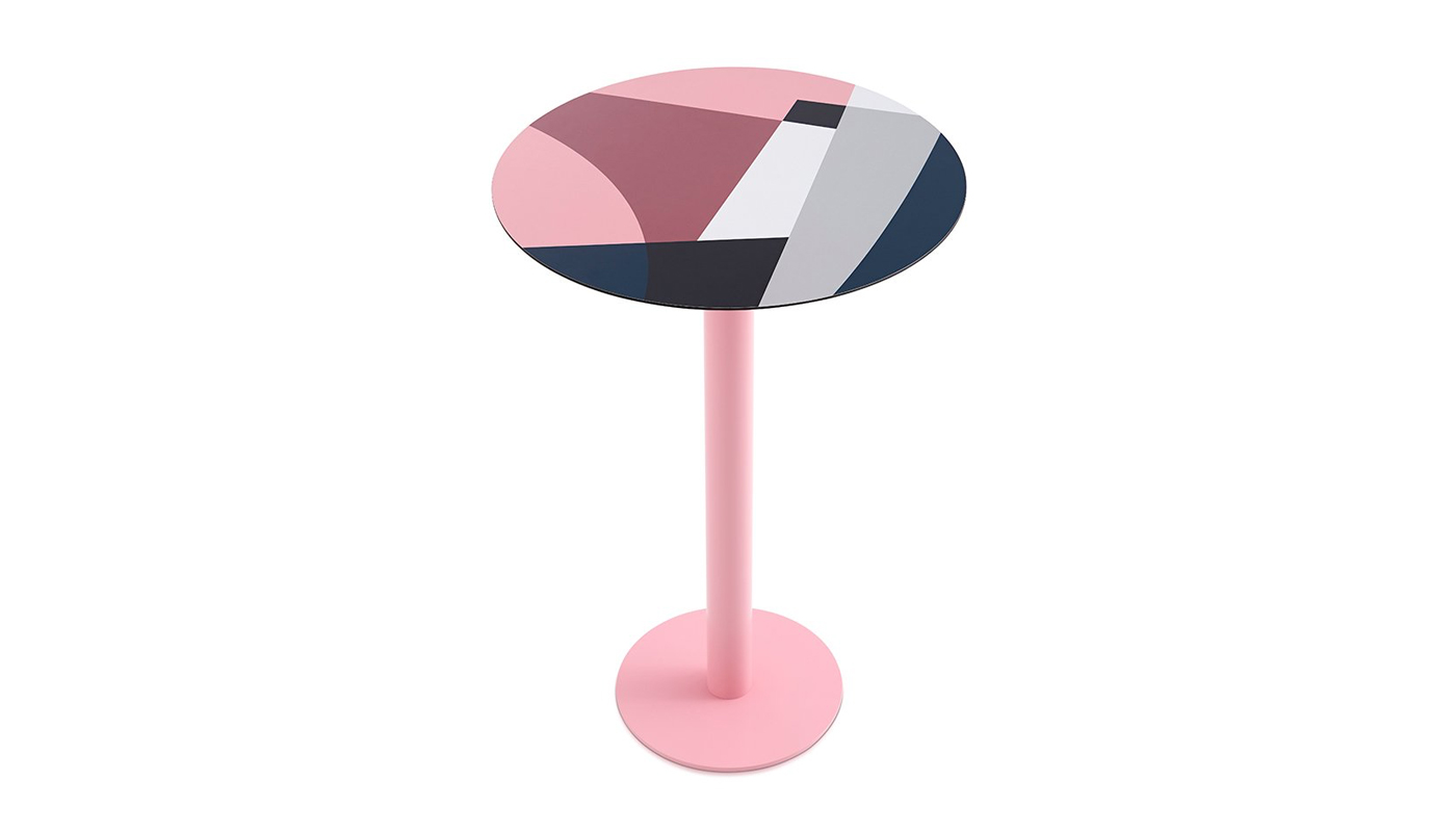 Abstrakt Mona Bar Table - Pink
