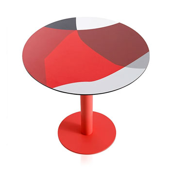 Abstrakt Mona Dining Table - Red