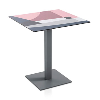 Abstrakt Mona Dining Table - Pink