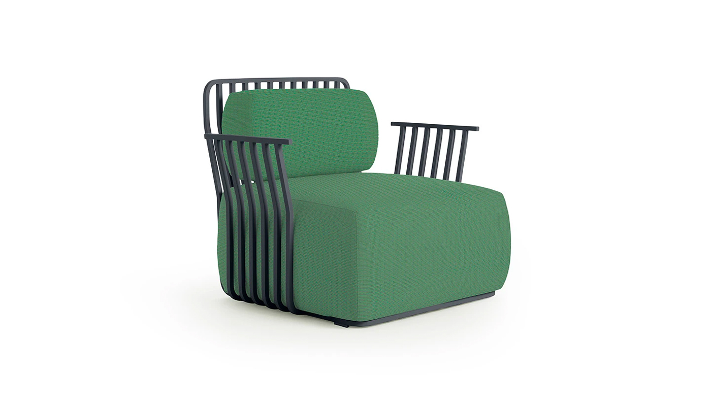 Grill Lounge Chair with Arms