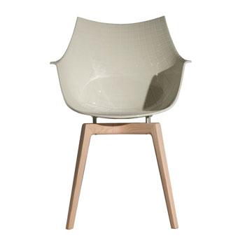 Meridiana Dining Chair - Wood Legs